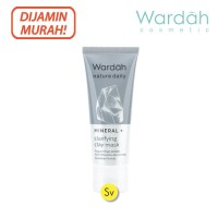 Wardah Nature Daily Mineral+ Clarifying Clay Mask, 60ml - Masker Wajah