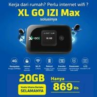 Modem XL GO IZI Mifi Router Wifi 4G Huawei E5577 MAX Free XL 20GB