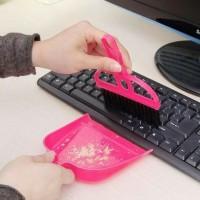 Sapu + Sekop Mini untuk Mobil, Keyboard, Sela-sela kecil