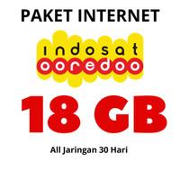 PAKET DATA KUOTA INTERNET INDOSAT OOREDOO 18 GB ALL JARINGAN 30 HARI