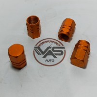 Tutup Pentil Ban Mobil Motor Sepeda Warna Orange Post 1pcs
