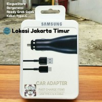 Samsung Car Charger Mobil TYPE C Fast Charging S20 Note 20 A70 A80 M30