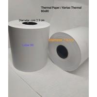 50 Kertas Kasir Struk Paper Roll 80X80mm Thermal 1 karton khusus gojek