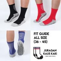 Kaos Kaki Bola Futsal Panjang Betis Anti Slip Trusox Kualitas Premium - Merah
