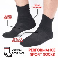 Kaos Kaki Panjang Olahraga Basket Fitness Gym Performance Socks
