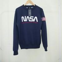 SWEATER CREWNECK NASA NAVY
