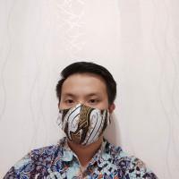 Masker Batik bahan cotton lembut 3ply