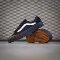 Sepatu Sneakers Pria Vans Style 36 Decon SF Black Black White Original