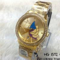 HEGNER 1572 gold jam tangan wanita water resist original