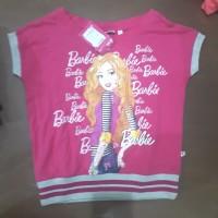 Kaos baju anak perempuan barbie karet bawah. pink 10 thn