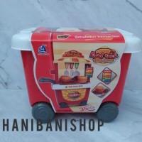 Sisishop222 Mainan Gerobak Anak Bbq Set / Bbq Burger Food Truck