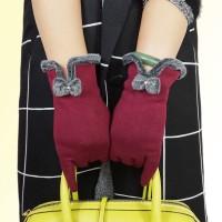 Sarung Tangan Touch Screen Wanita untuk Musim Dingin / Fitness
