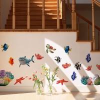 Aksesoris : Stiker Dinding Mural Ikan Laut