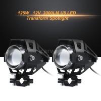 2Pcs Lampu Sorot U5 LED Transformer Bahan Alloy untuk Motor