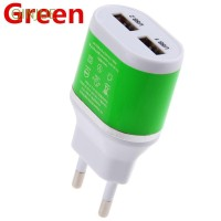 5V/2A Power Adapter Dual USB Wall Charger EU Plug for Samsung HTC