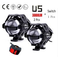 Huiermeimi 2 PCS 125 W lampu sepeda motor lampu tambahan, U5