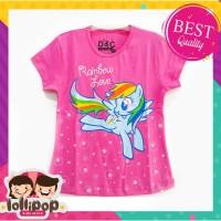 Kaos Anak Murah Lengan Pendek Lollipop Kids Store Little Pony Pink