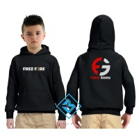 SWEATER HOODIE ANAK FREE FIRE FRONTAL GAMING