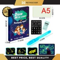 A5 PAPAN TULIS DRAW WITH LIGHT LED MAGIC PAINTING BOARD MAINAN EDUKASI