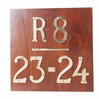 "Papan Nomor Rumah ApartemenKuningan 4"" / Brass Alphabet - Model #2"