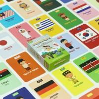 Flashcard JELAJAH NEGARA - Kartu Edukasi - by Konsep Studio