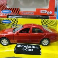 Mainan Diecast Welly Mercedes Benz S-Class Red