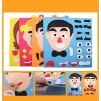 Mainan Edukasi Tempel Ekspresi Anak Cowok dan Cewek