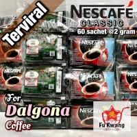Nescafe Classic Kopi Instan Dalgona Instant Coffee 2 gram 60 sachet