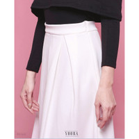 Wide Pleated Skirt Rok Midi Panjang Wanita RK168