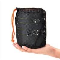 Set Alat Masak Portable + Gagang Warna Oranye untuk Outdoor / Camping