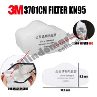 3M 3701 CN Filter Masker N95 Insert Masker Filter Masker Kain