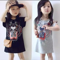 dress anak perempuan motif kenzo / t-shirt dress anak import