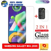 Tempered Glass Samsung Galaxy M21 Screen Protection Anti Gores Clear