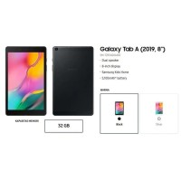 SAMSUNG Galaxy Tab A 2019 SM-T295 RAM 2GB 32GB GARANSI RESMI SEIN