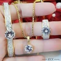 titanium set perhiasan dewasa d0113