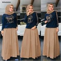 Baju Muslim Wanita Setelan/Setelan Pakaian Muslim-set naomi - maroon