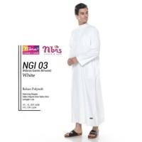 Original NIBRAS GAMIS IKHWAN NGI 03 White Polysoft