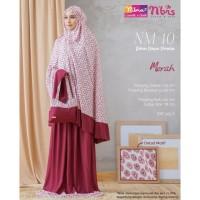 Original NIBRAS MUKENA DEWASA NM 10 Merah Biru Rayon Premium