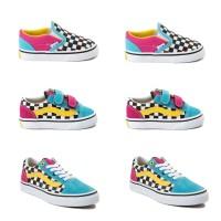 Sepatu anak vans oldskool multicolor crazy checker 20 - 35