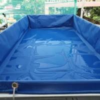 kolam terpal PVC semi karet 2x1x0.25