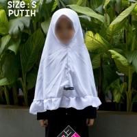 Jilbab anak by Riyadhul Muslimat - Putih size M