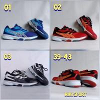 Sepatu Badminton Asics Gel-Upcourt 0123 - Merah, 39