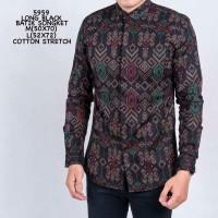 Baju Kemeja Batik Songket Pria Kemeja Formal Kantoran Batik Pria