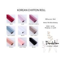 KOREAN CHIFFON ROLL PREMIUM MESH FLORAL WRAP (1 ROLL)