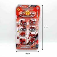 Toko Mainan ALFA mobil pemadam kebakaran 8pcs 876E-18A