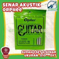 Senar Gitar Akustik Orphee Acoustic Guitar Strings Extra Light TX620