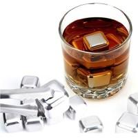 Es Batu Stainless Steel Reusable Ice Cube 4/6/8 PCS - W00043