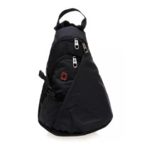 Swiss Gear Triangle Sling Bag - Hitam (tas serempang mini segitiga)