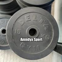 Delta Rubber Plate - Barbell /Dumbell Plate 15kg