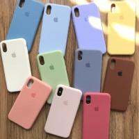 Silicon Case Iphone 6 6+ 7 7+ 8 8 Plus X XR XS Max Casing Model Ori
